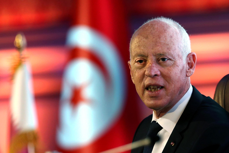 صورة بتاريخ 16 تشرين الثاني/نوفمبر 2020 للرئيس التونسي قيس سعيد خلال زيارة إلى قطر
