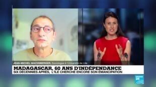 2020-06-26 17:07 Jean-Michel Wachsberger parle des 60 ans d'indépendance de Madagascar sur France 24