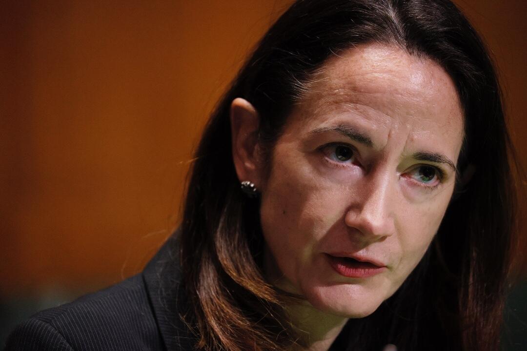Avril Haines durante su audiencia de confirmación ante el Comité de Inteligencia del Senado.