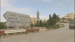أحد مداخل مدينة طنجة، شمال المغرب.