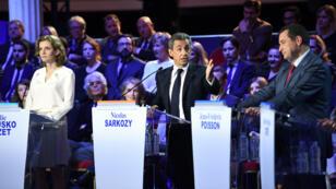 Nicolas Sarkozy a été la cible de nombreuses attaques, jeudi 3 novembre, lors du deuxième débat entre les candidats à la primaire de la droite et du centre.