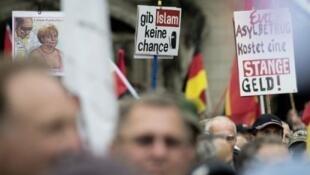 """مظاهرة لحركة """"بيغيدا"""" المناهضة للمسلمين في ألمانيا"""