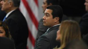 Foto tomada a Juan Antonio Hernández cuando era diputado del Partido Nacional de Honduras en septiembre de 2017.