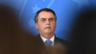 Le président brésilien Jair Bolsonaro, le 28 août 2019 à Brasilia.