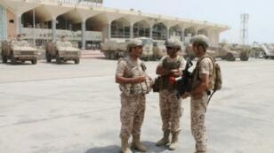 مطار عدن في 6 آب/أغسطس 2015