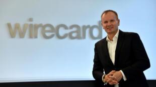Le fondateur et ancien président du directoire de Wirecard, Markus Braun, ici le 18 septembre 2018 au siège de la compagnie, Aschheim, près de Munich, dans le sud de l'Allemagne