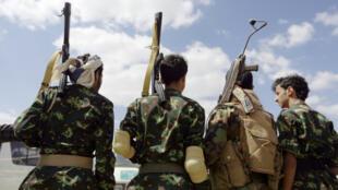 Des Houthis dans la capitale du Yémen, Sanaa, le 17 septembre 2019.