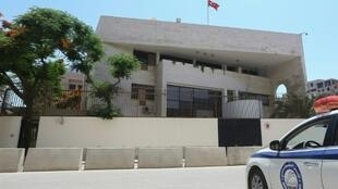 The Turkish embassy in Tripoli, a sign of Ankara's support for the internationally recognised Government of National Accord fighting the forces of Libyan strongman Khalifa Haftar.