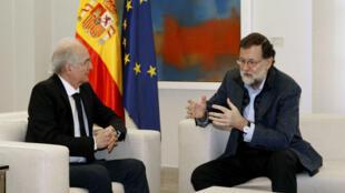 El opositor venezolano Antonio Ledezma llegó a Madrid y se reunió con el presidente del gobierno español, Mariano Rajoy.