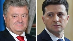 Polls indicate incumbent Petro Poroshenko (left) will lose heavily to comic actor Volodymyr Zelensky in Sunday's second round of Ukraine's presidential election