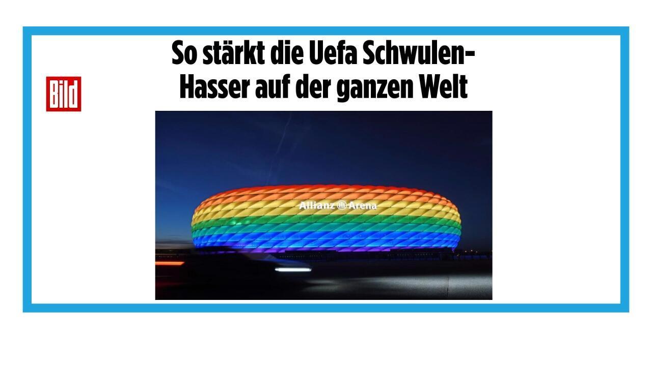 Refus de l'UEFA d'autoriser la ville de Munich à illuminer son stade aux couleurs LGBT