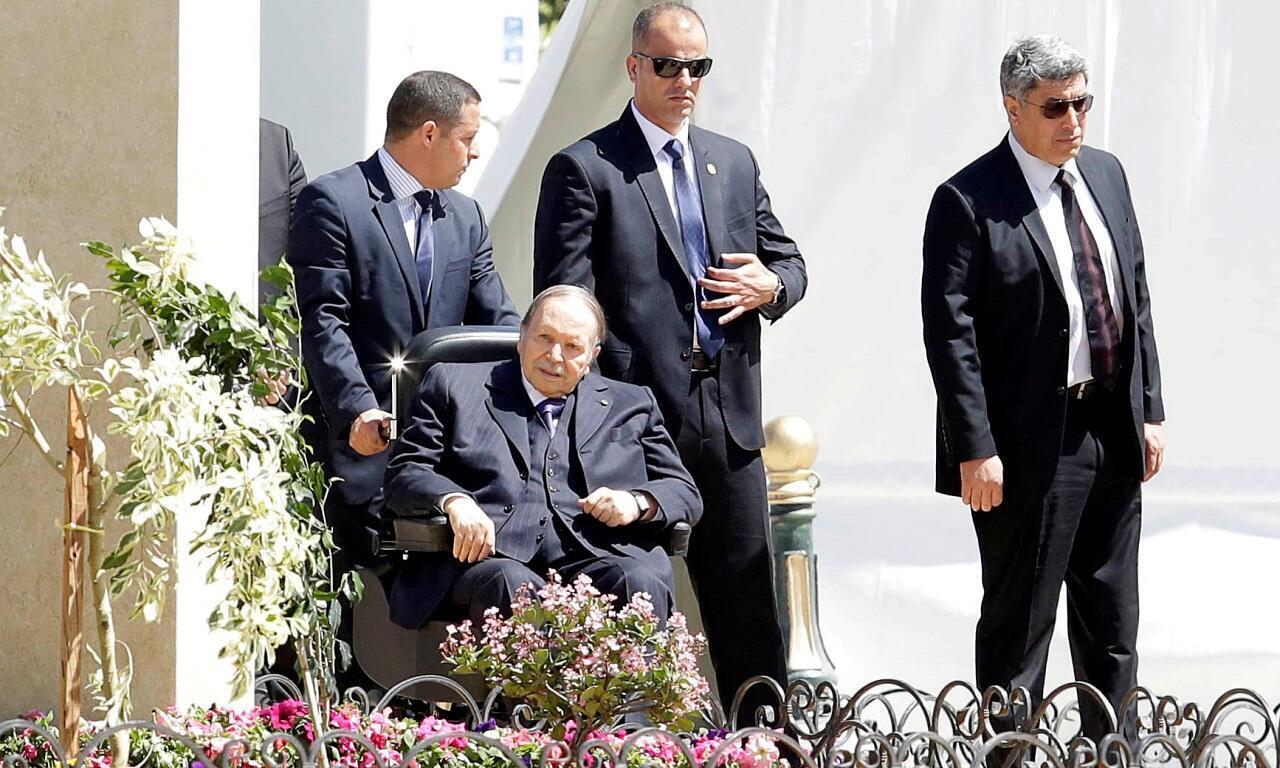 الرئيس الجزائري عبد العزيز بوتفليقة في الجزائر. 9 أبريل/نيسان 2018.
