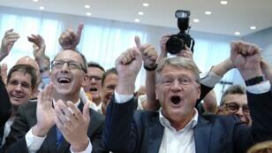 """حزب """"البديل لألمانيا"""" اليميني المتطرف- 1 سبتمبر/أيلول 2019."""