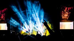 Un concert de Megadeath en août 2017.