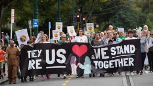 """""""مسيرة للحب"""" في شوارع كرايستشيرش بنيوزيلندا في 23 مارس/آذار 2019"""
