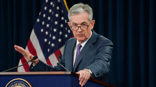 El presidente de la Reserva Federal, Jerome Powell, preside una conferencia de prensa en Washington, Estados Unidos, el 31 de julio de 2019.