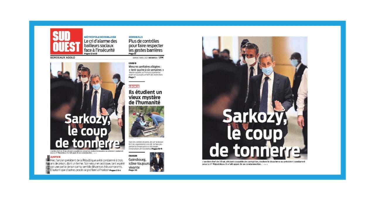 """L'ancien président Nicolas Sarkozy condamné à un an de prison ferme pour """"corruption"""""""