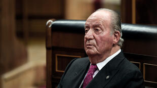 El rey emérito de España, Juan Carlos I, asiste a actos conmemorativos que marcan el 40 aniversario de la Constitución española en el Parlamento de Madrid el 6 de diciembre de 2018.