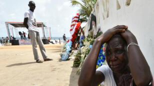 L'attaque jihadiste du 13 mars 2016 à Grand-Bassam en Côte d'Ivoire a fait 19 morts.