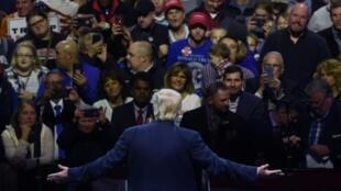 الرئيس الأمريكي المنتخب دونالد ترامب يلقي كلمة في ولاية أوهايو