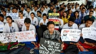 Indian doctors are striking to demand better protection from patients and their angry relatives