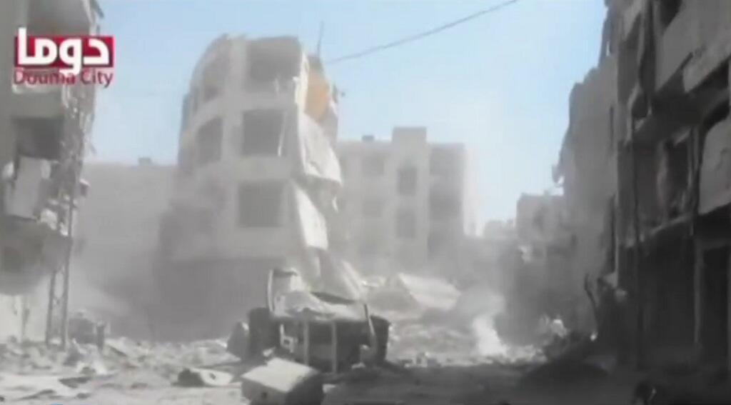 - مدينة دوما السورية تحت القصف