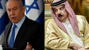 Israeli Prime Minister Benjamin Netanyahu, seen in June 2020, and Bahraini King Hamad bin Isa Al Khalifa, seen in December 2019, have agreed on historic reconciliation