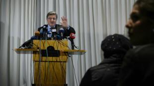 Salem al-Meslet, porte-parole du groupe principal de l'opposition syrienne, à Genève, le 31 janvier 2015.