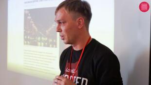 Le journaliste d'investigation russe Ivan Golounov à Moscou, le 27 octobre 2019.
