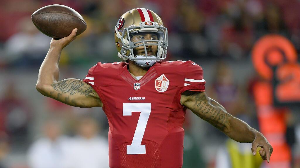 Colin Kaepernick est quaterback pour l'équipe des San Francisco 49ers.