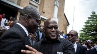 L'opposant Félix Tshisekedi, le 4 janvier 2018 à Kinshassa, lors des célébrations de la fête nationale de l'indépendance.
