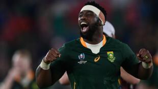 Siya Kolisi, capitaine de l'Afrique du Sud au Mondial-2019 de rugby.