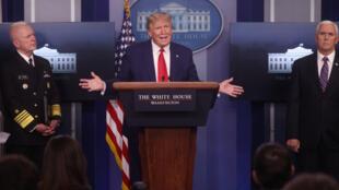 Donald Trump à la Maison Blanche le 20 avril 2020.