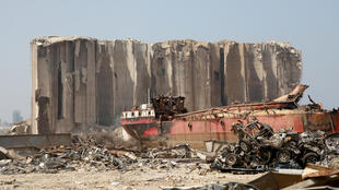 The grain silo at Beirut port was destroyed in the August 4 blast that killed 200 people and ravaged swathes of the Lebanese capital