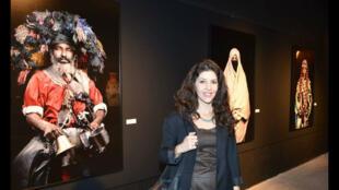 """ليلى علوي في معرضها """"المغاربة"""" الذي قدمته في لبنان"""