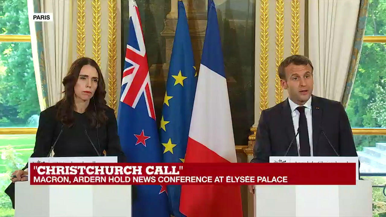Macron And Ardern Announce Measures Against Online Extremism