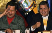 Chavez et Correa attentifs à l'issue du scrutin colombien