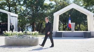 François Hollande lors de la cérémonie d'hommage aux victimes, à Nice, le 15 octobre 2016.