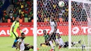 الهدف الأول في شباك غانا