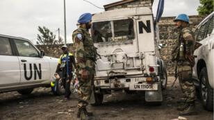 Des casques bleus indiens de la Monusco à Goma, le 8 novembre 2016.