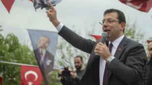 أكرم إمام أوغلو في إسطنبول، في 15 أبريل/نيسان 2019