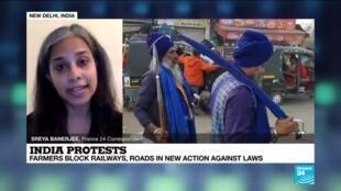 2020-12-08 13:10 Farmers protest across India against Modi's liberalisation