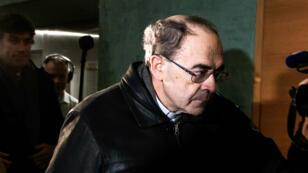 Le cardinal Philippe Barbarin, le 8janvier 2019, peu après son entrée dans la 17e chambre du tribunal correctionnel de Lyon.