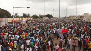 Manifestation d'opposants dans les rues de Lomé, le 20 septembre 2017.