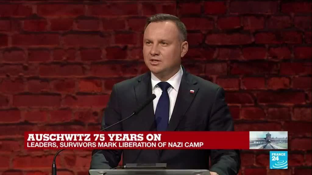 """2020-01-27 15:46 Poland's president Andrzej Duda: """"May the memory of the victims of the Holocaust live eternally"""""""