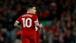 Philippe Coutinho (25 años), jugador del Liverpool FC.
