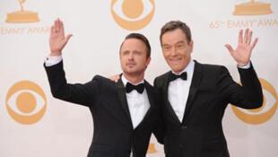 Les deux acteurs principaux lors de la cérémonie des 65e Emmy Awards