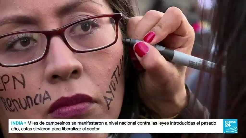 2021-09-27 14:40 Familiares de los 43 estudiantes desaparecidos en Ayotzinapa hace siete años aún piden respuestas