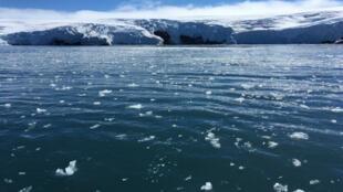 Fonte des glaciers à King George Island, en Antarctique, le 1er février 2018.