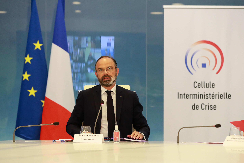 إدوار فيليب في باريس. 20 أبريل/نيسان 2020.